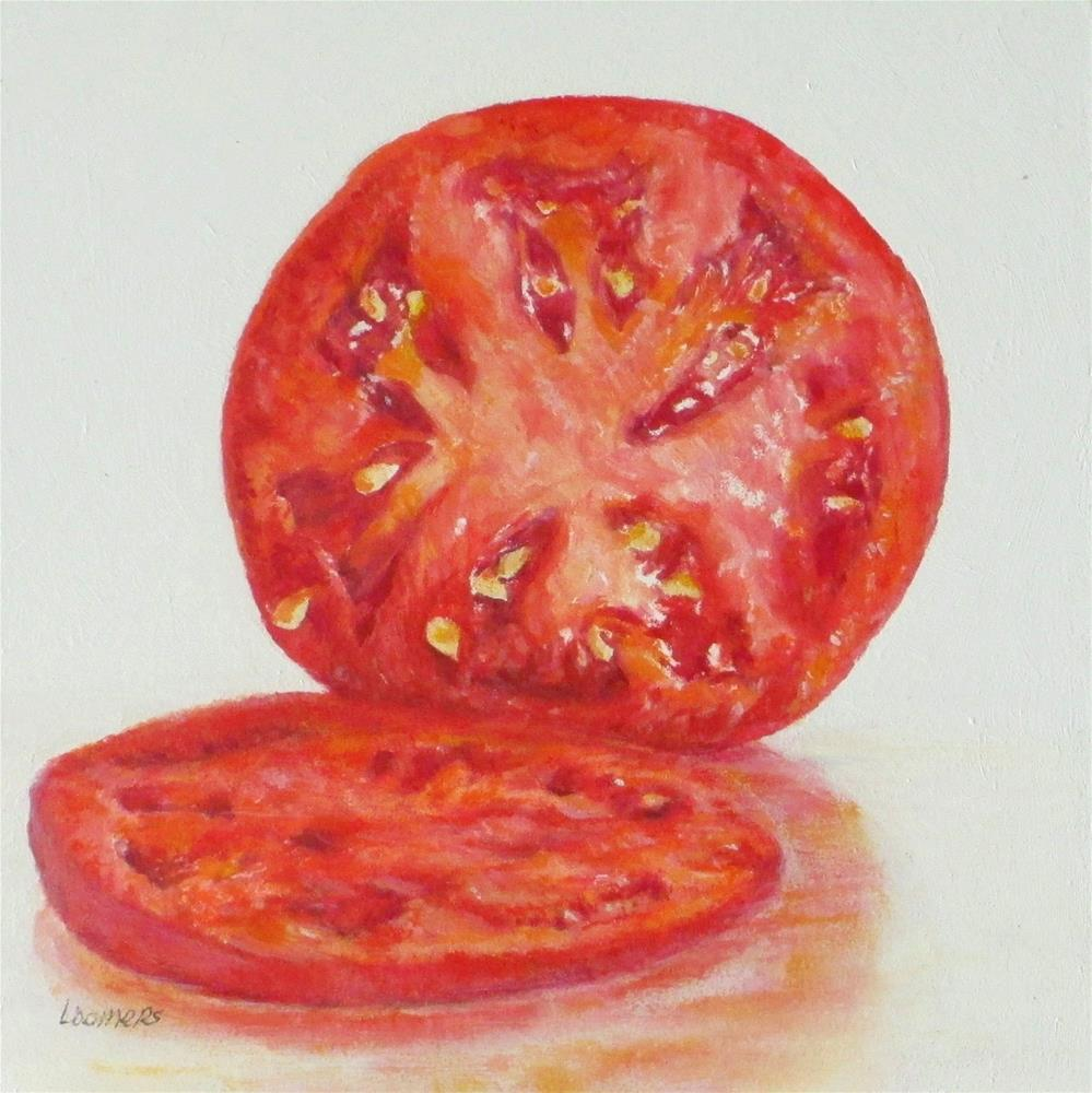 """Tomato Section"" original fine art by Linda Demers"