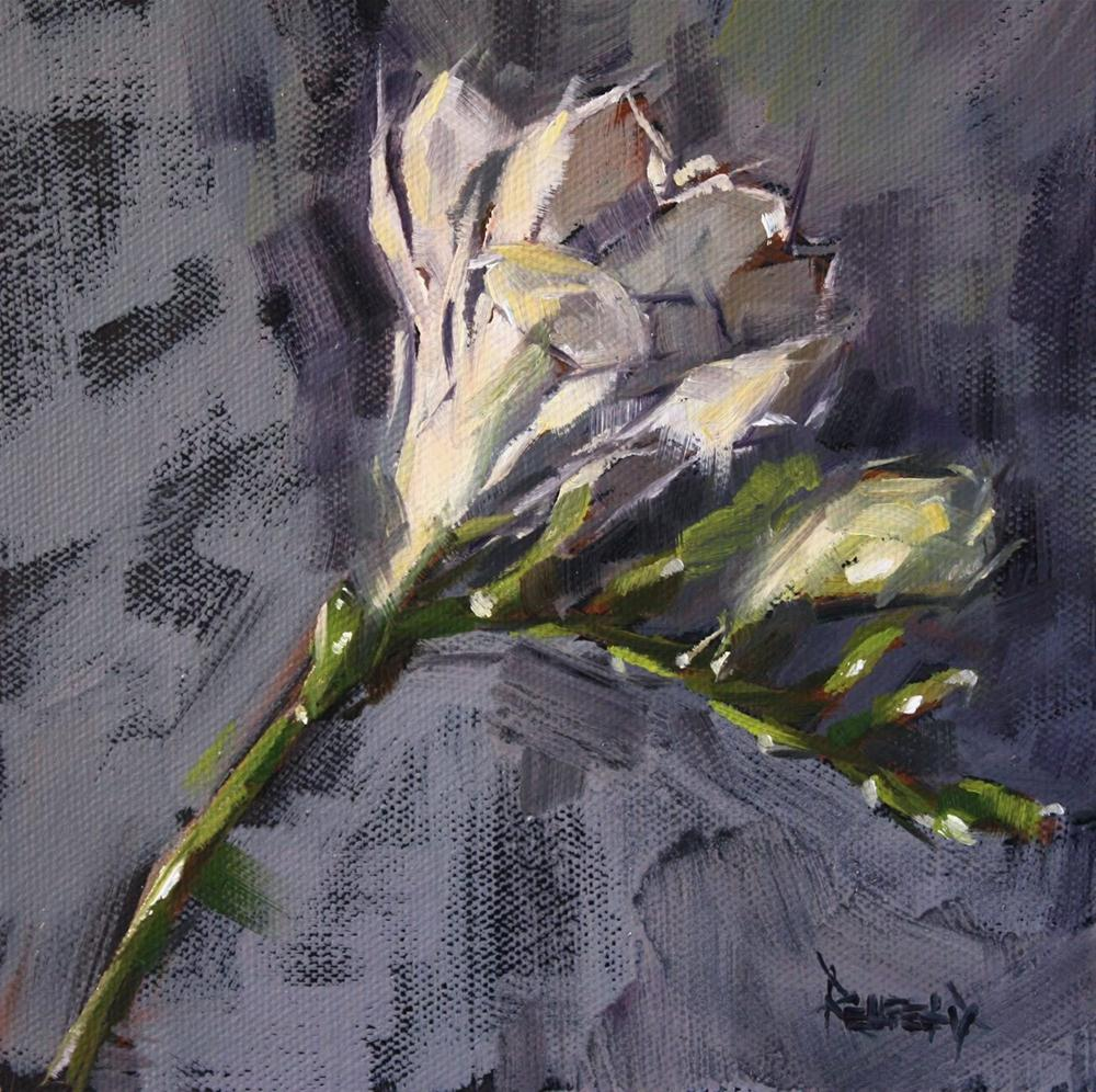 """Freesia"" original fine art by Cathleen Rehfeld"
