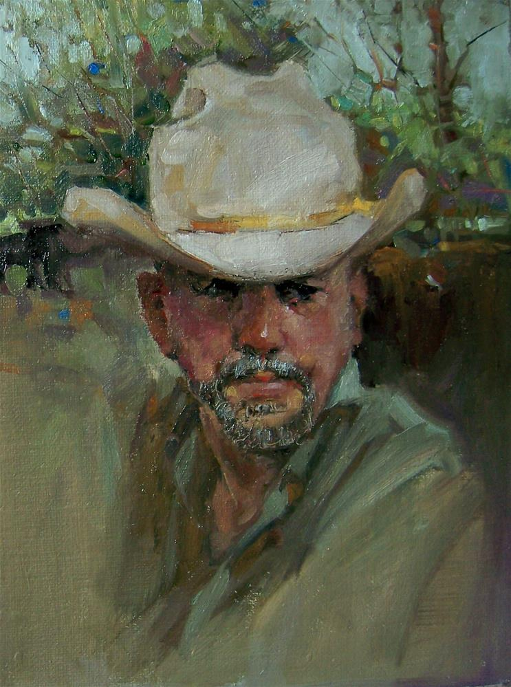 """Leave Your Hat On"" original fine art by Kim Roberti"