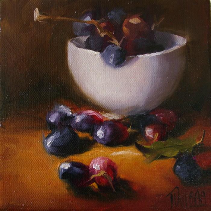 """Black Seedless"" original fine art by Lori Twiggs"