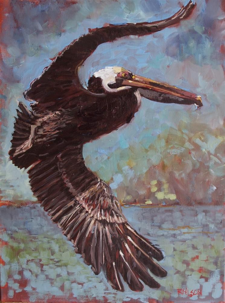 """VooDoo Pelican"" original fine art by Rick Nilson"