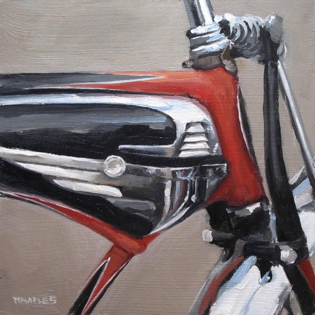 """""""Antique Bicycle"""" original fine art by Michael Naples"""