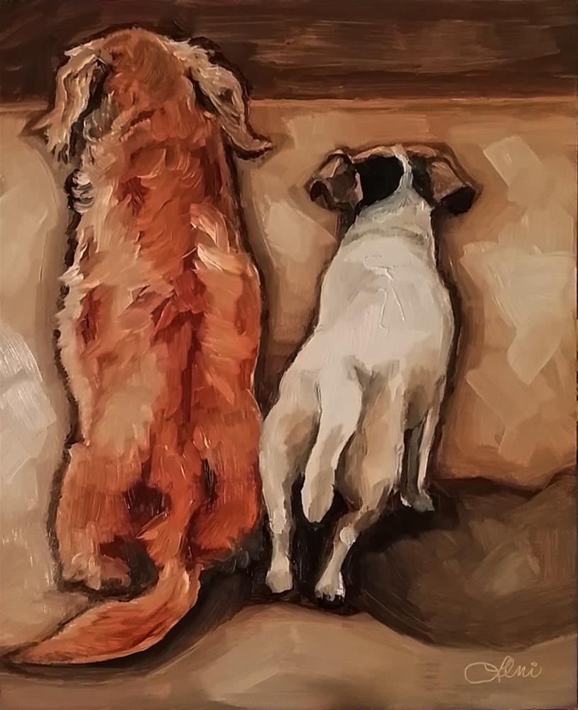 """Waiting III"" original fine art by Leni Tarleton"