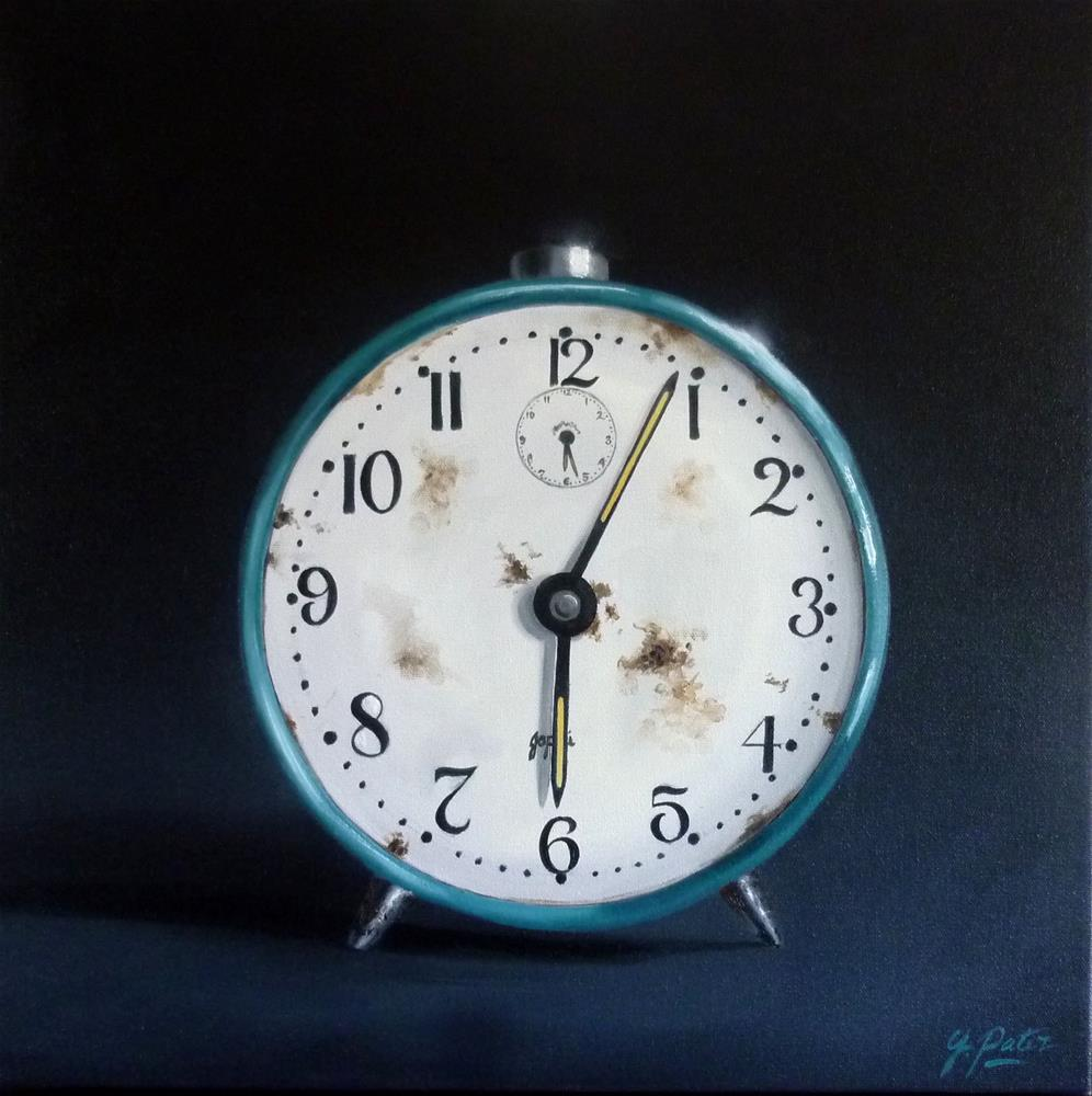 """The Clock is Ticking....."" original fine art by Gina Pater"