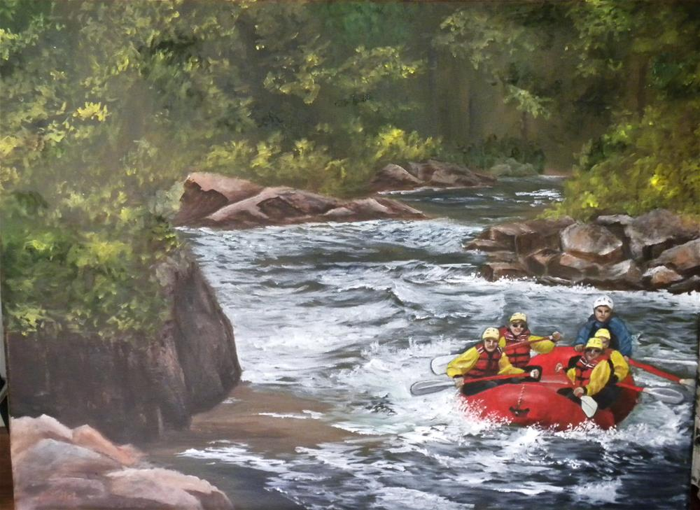 """Rafting in Colorado"" original fine art by Marti Idlet"