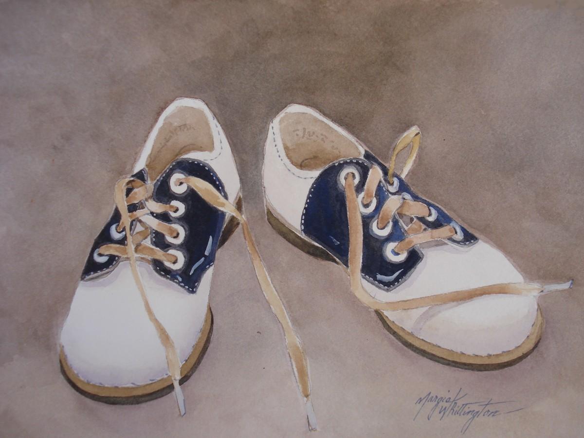 Austin's Oxfords original fine art by Margie Whittington