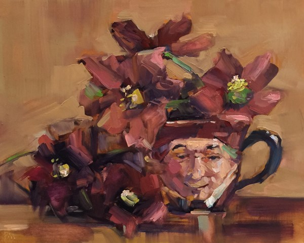 """Horace and The Hellebores"" original fine art by Patti McNutt"