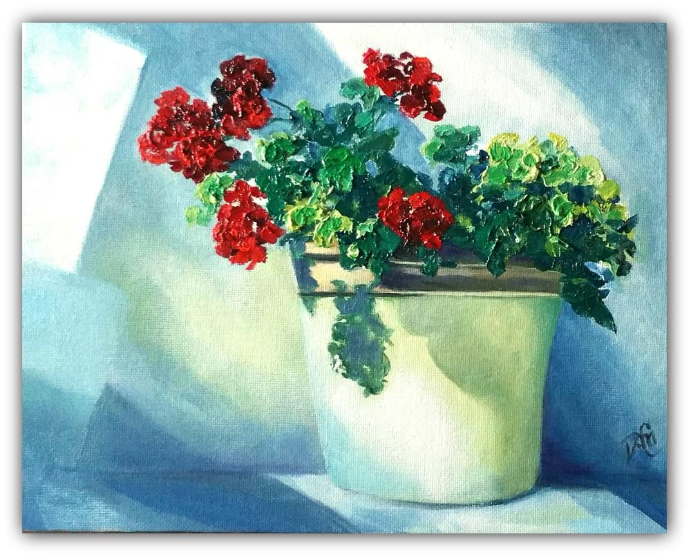"""Little Geranium"" original fine art by Dana C"