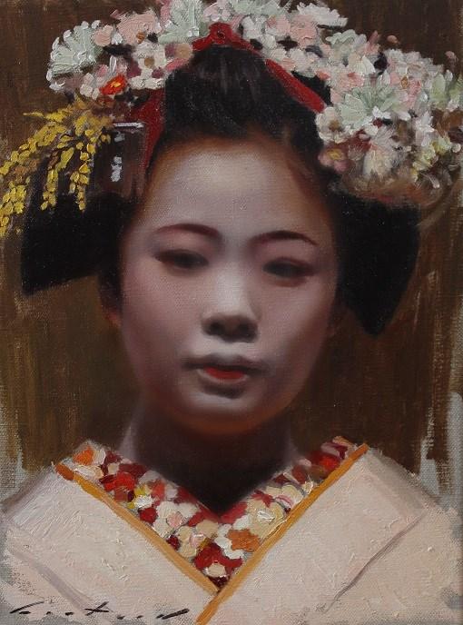 """Maiko Komako"" original fine art by Phil Couture"