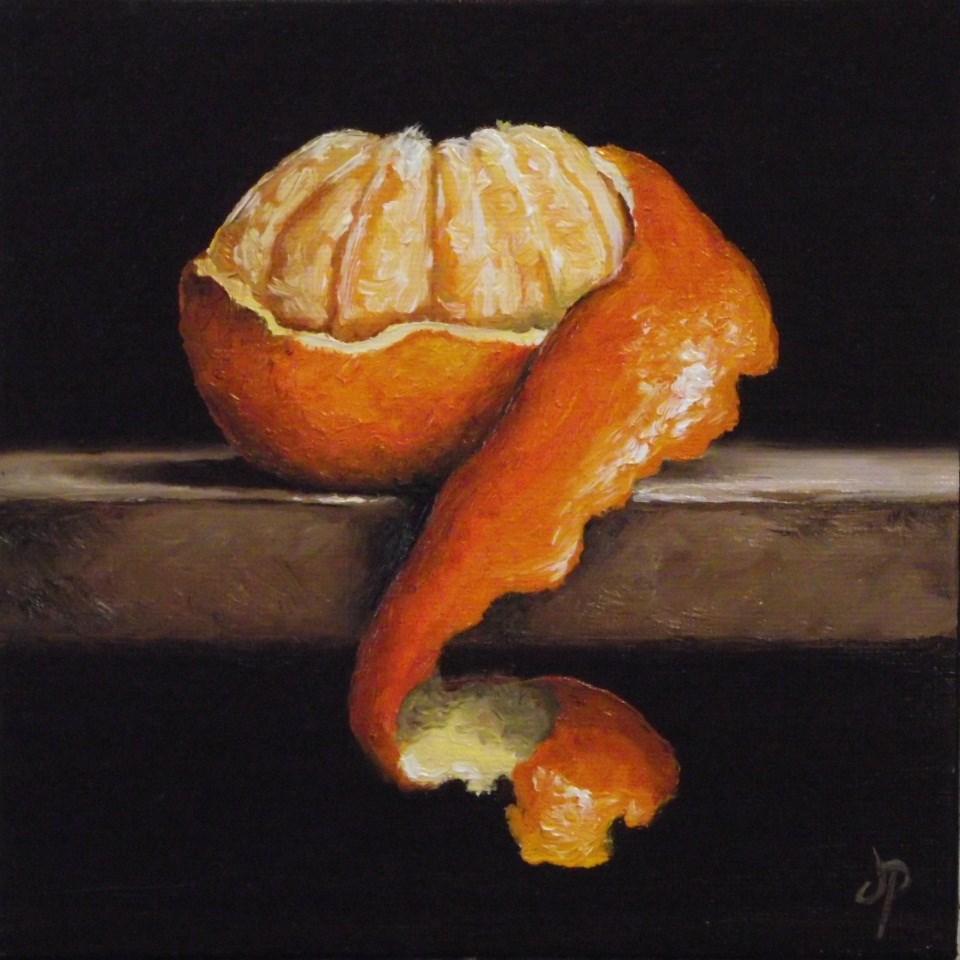 """Peeled Clementine"" original fine art by Jane Palmer"