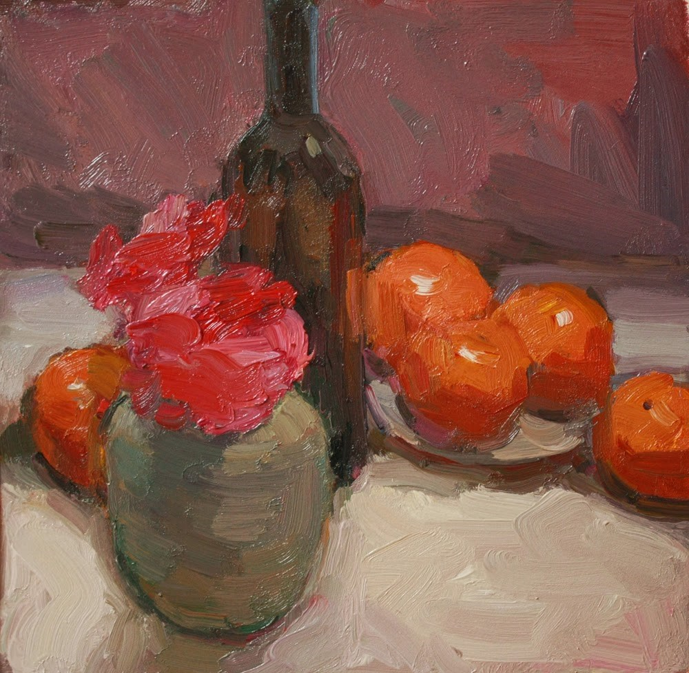 """Still Life with Oranges"" original fine art by Kathryn Townsend"