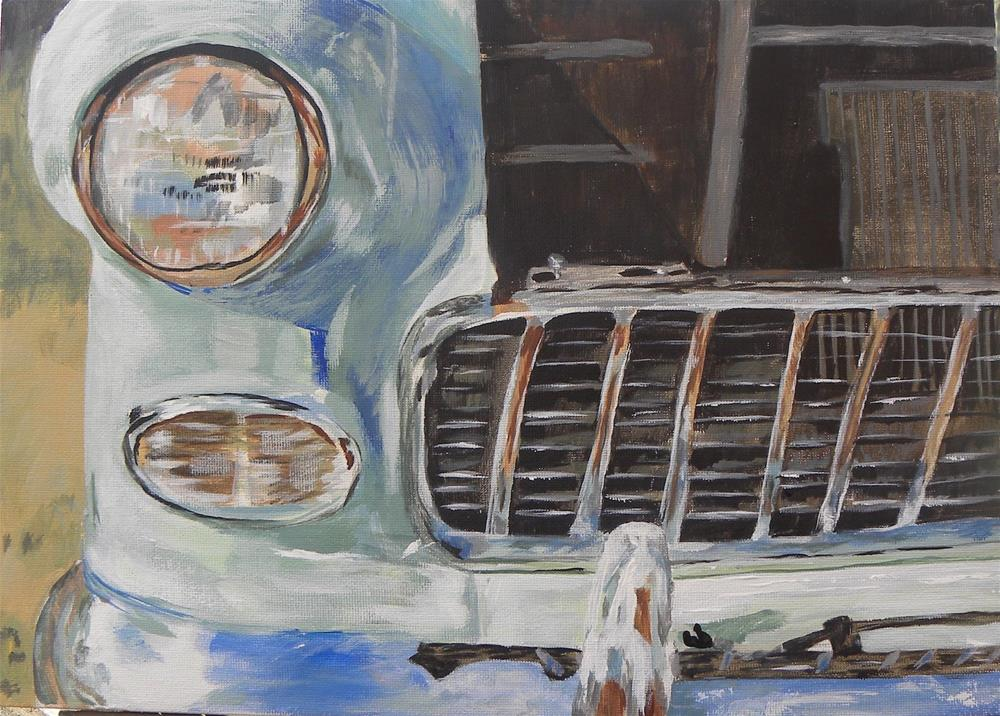 """Antique Car Show"" original fine art by cheryl buhrman"