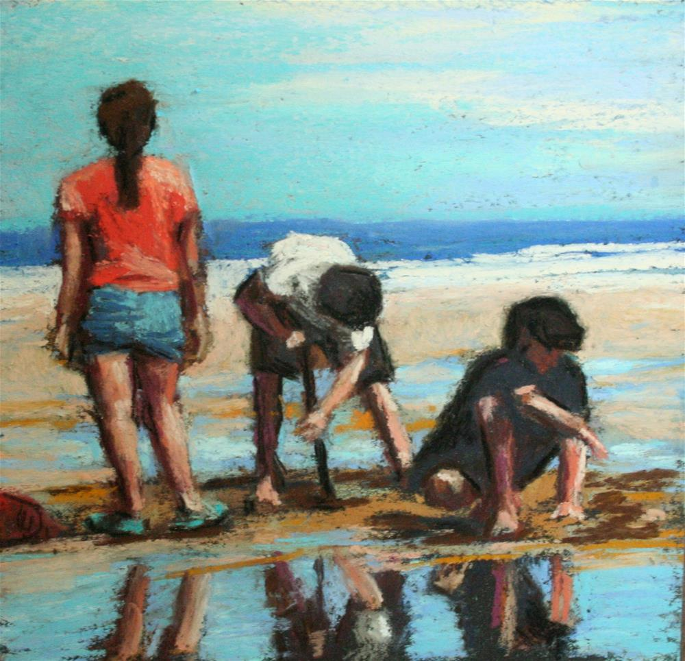 """Low Tide Delight"" original fine art by Janet Zabilski"