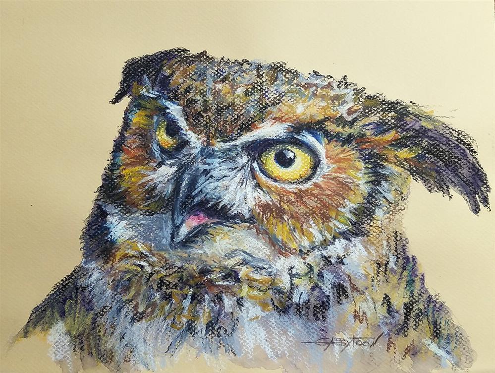 """Owl"" original fine art by Gabriella DeLamater"