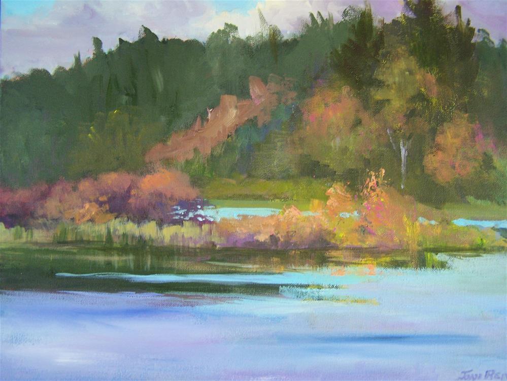 """""""Fall Day in Westport #2"""" original fine art by Joan Reive"""