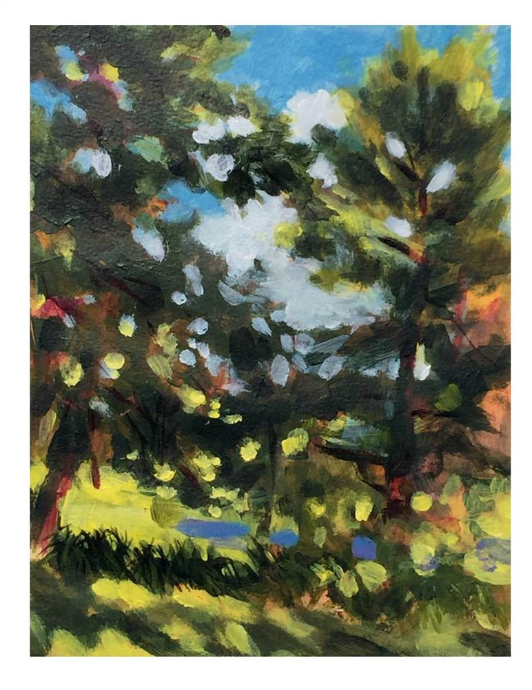 """Backyard Study"" original fine art by Suzanne Woodward"