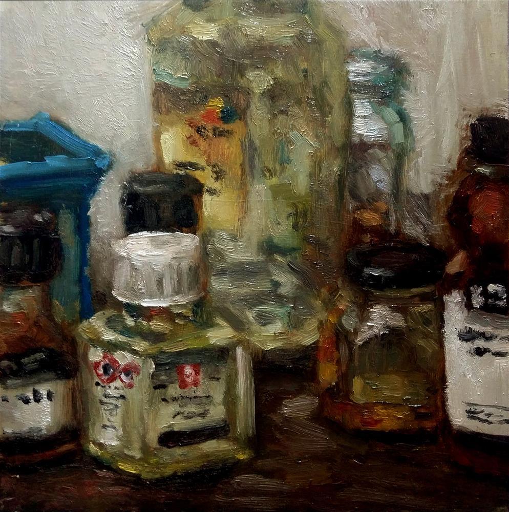 """Tools of trade"" original fine art by Aleksandra Uzarek"
