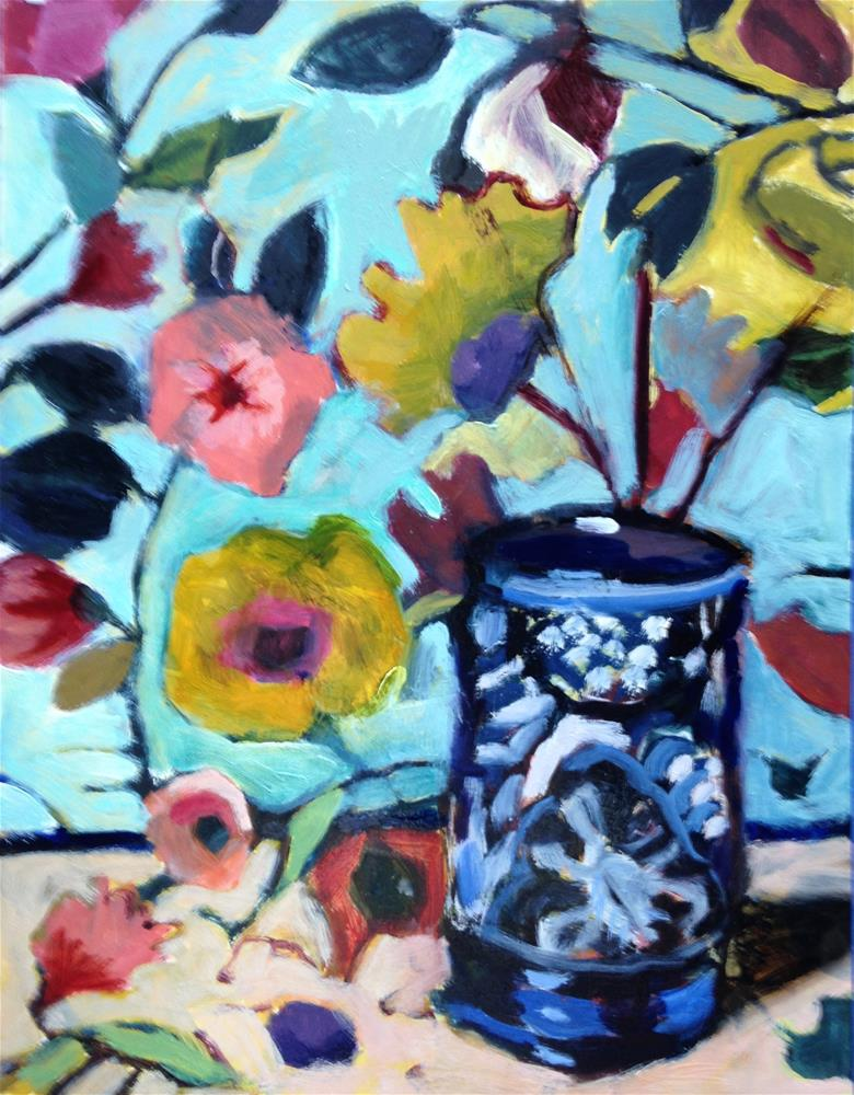"""Wallpaper/Vase"" original fine art by Pamela Hoffmeister"