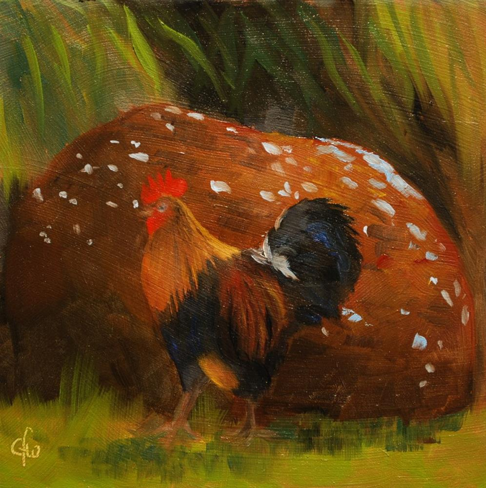 """Feral Chicken"" original fine art by Gary Westlake"