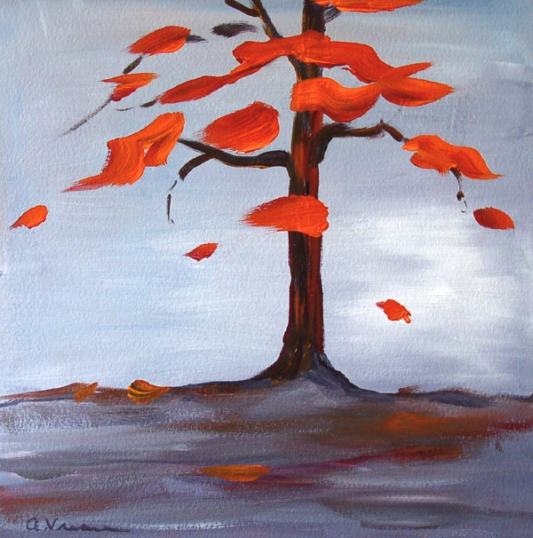 """Day 5 - Autumn"" original fine art by Anna Vreman"