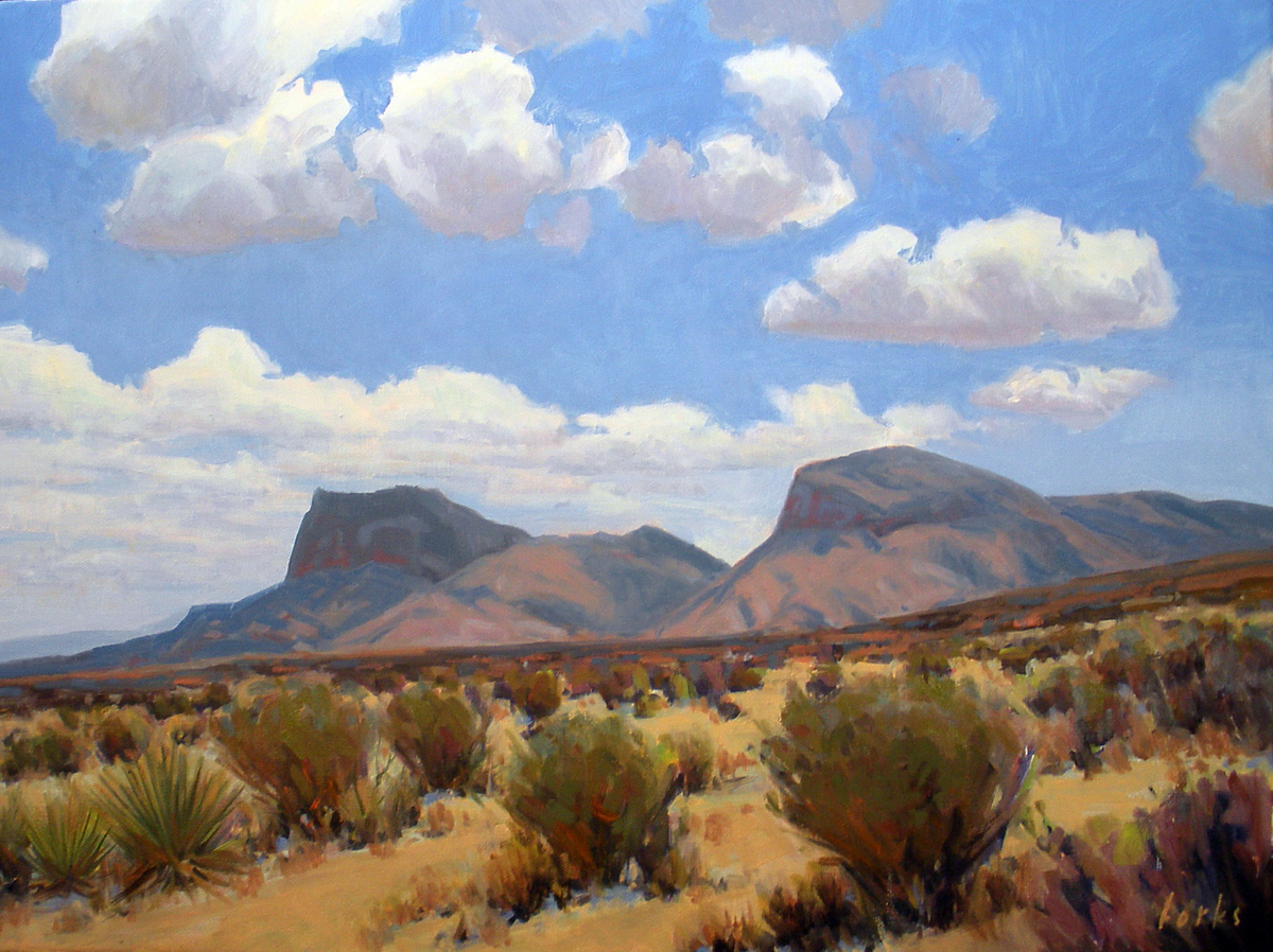 """Desert Slopes"" original fine art by David Forks"