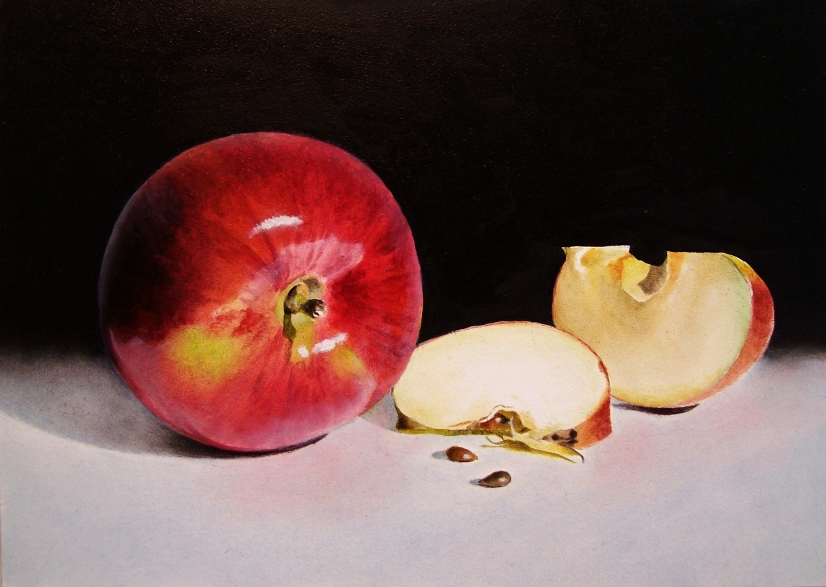 """Shiny Mac"" original fine art by Jacqueline Gnott, whs"