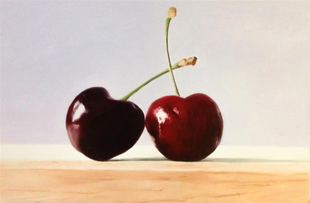 """Two Cherries"" original fine art by James Coates"
