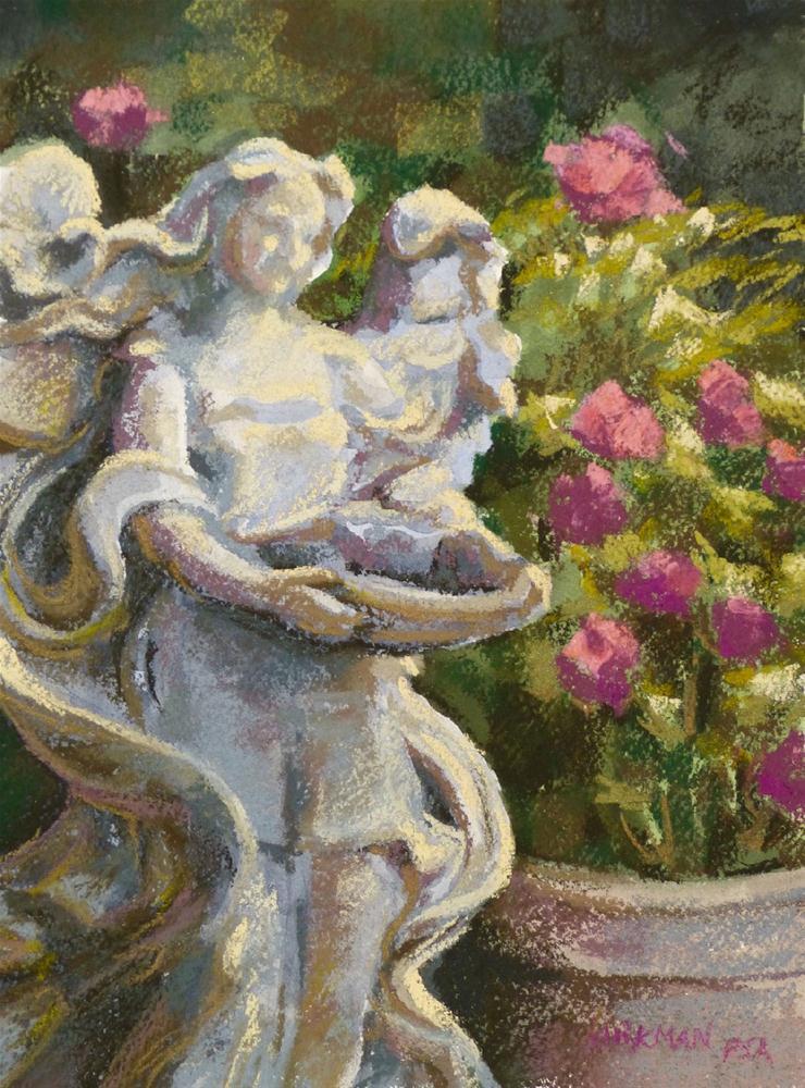 Garden Angel (my DPW Challenge- 2cd painting) original fine art by Rita Kirkman