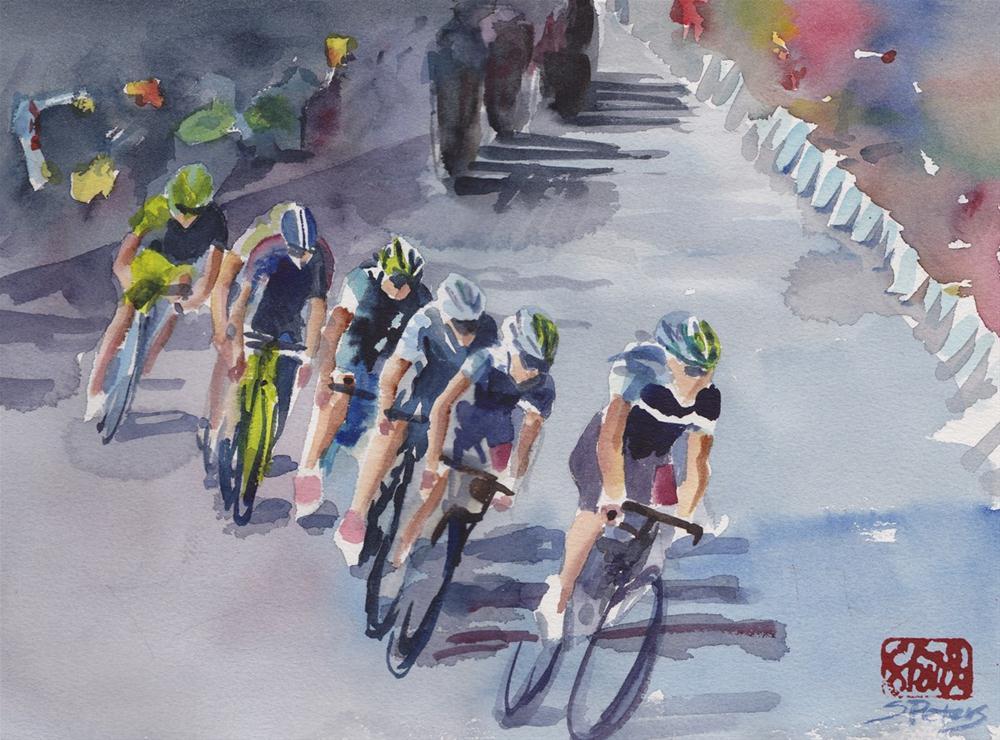 """""""Le Tour de France"""" original fine art by Shirley Peters"""