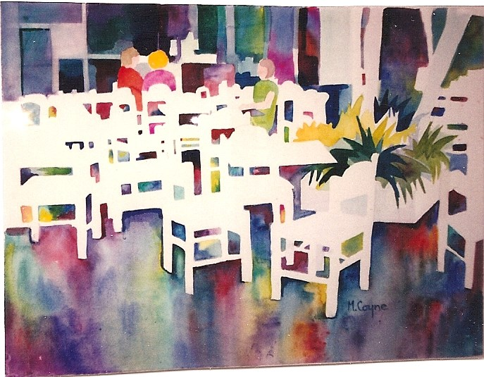 """chairs"" original fine art by meribeth coyne"
