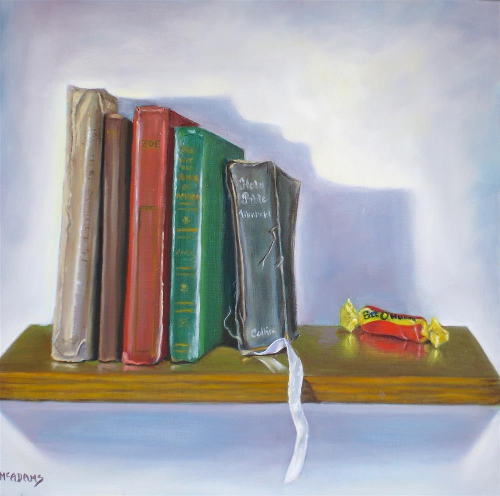 """The Bookshelf"" original fine art by Phyllis McAdams"