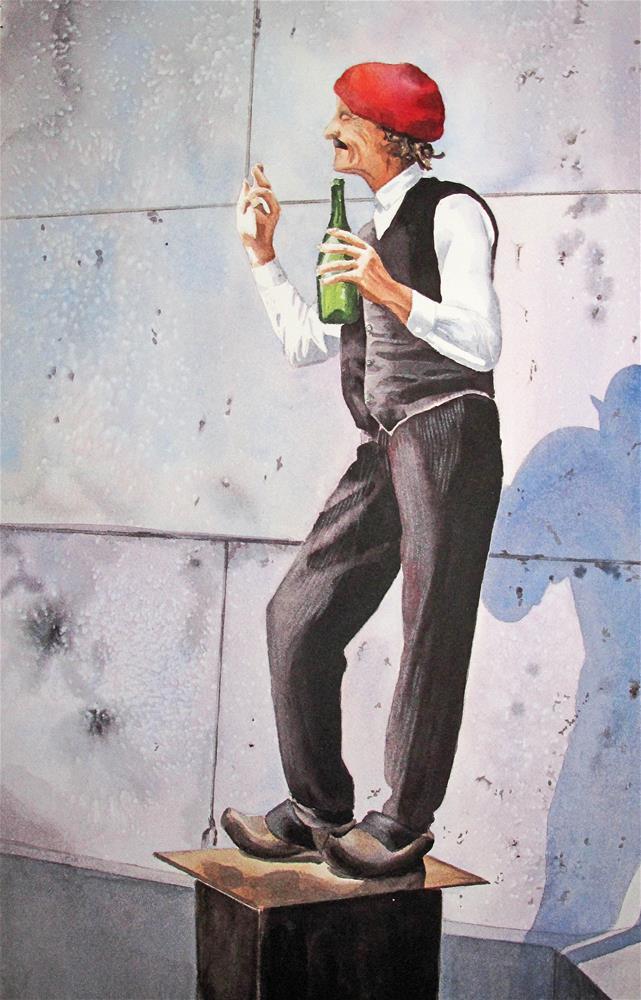 """The Entertainer"" original fine art by Diane Fujimoto"