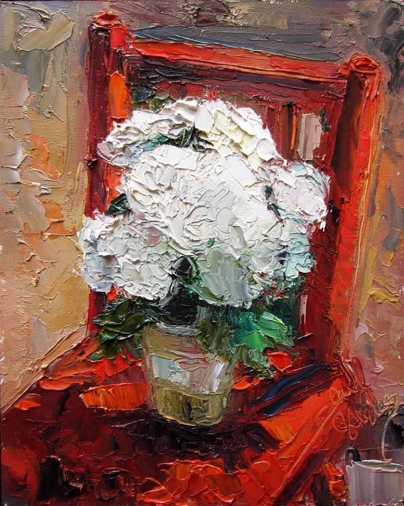 """Mums for Mark"" original fine art by Carol Steinberg"