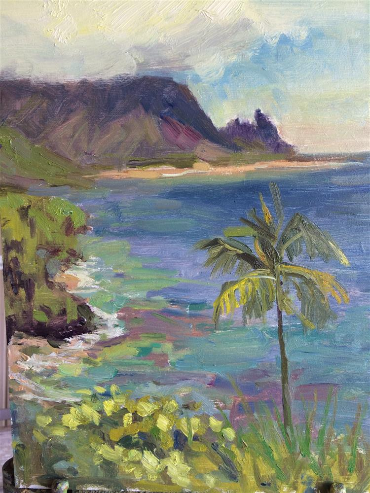 """View of Hanalei"" original fine art by Yvonne Manipon"