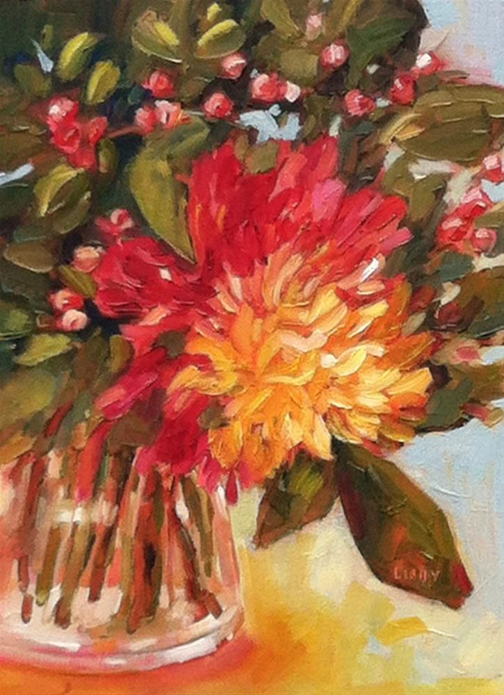 """Dear Dahlia"" original fine art by Libby Anderson"
