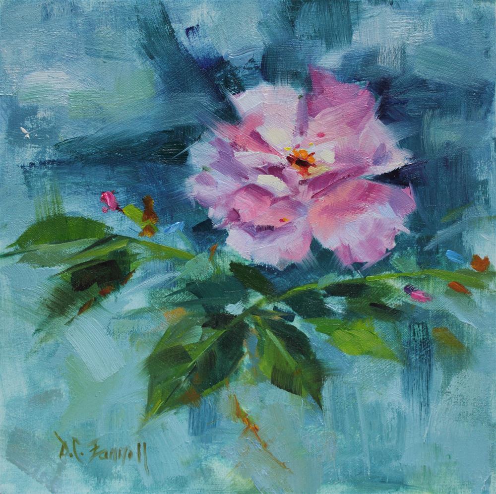 """Mia's Little Rose"" original fine art by Donna C Farrell"