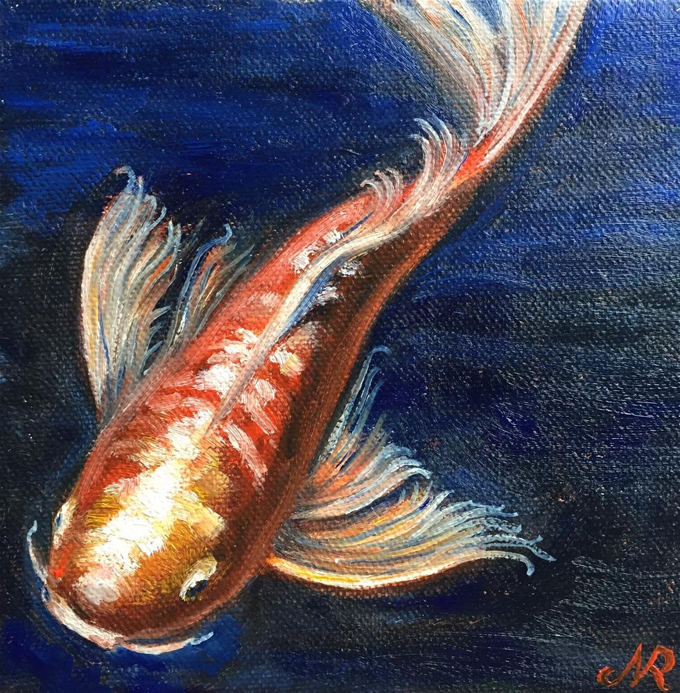 """Koi 6"" original fine art by Natasha Ramras"