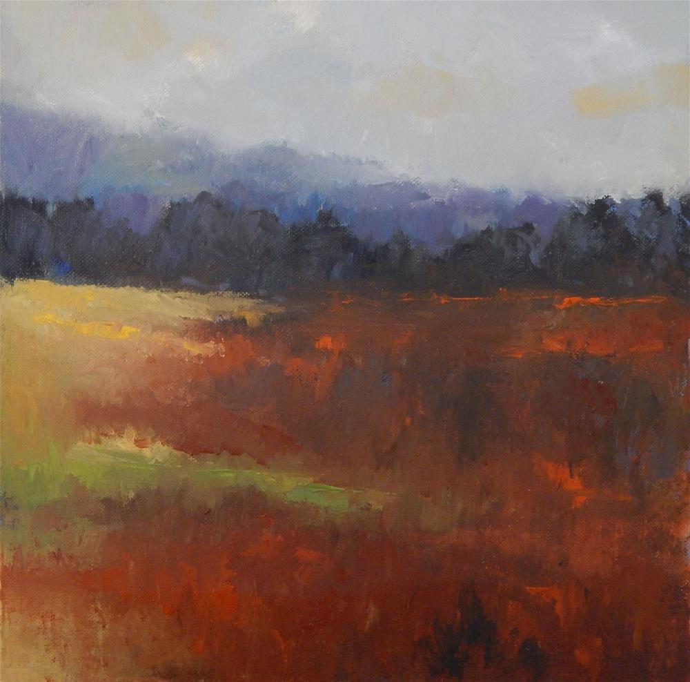"""Meadow in Winter"" original fine art by Lisa Kyle"