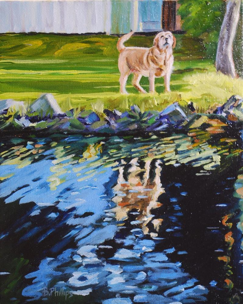 """River Greeting"" original fine art by Beverley Phillips"