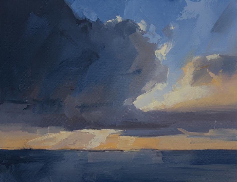 """South clouds in November"" original fine art by Thorgrimur Andri Einarsson"