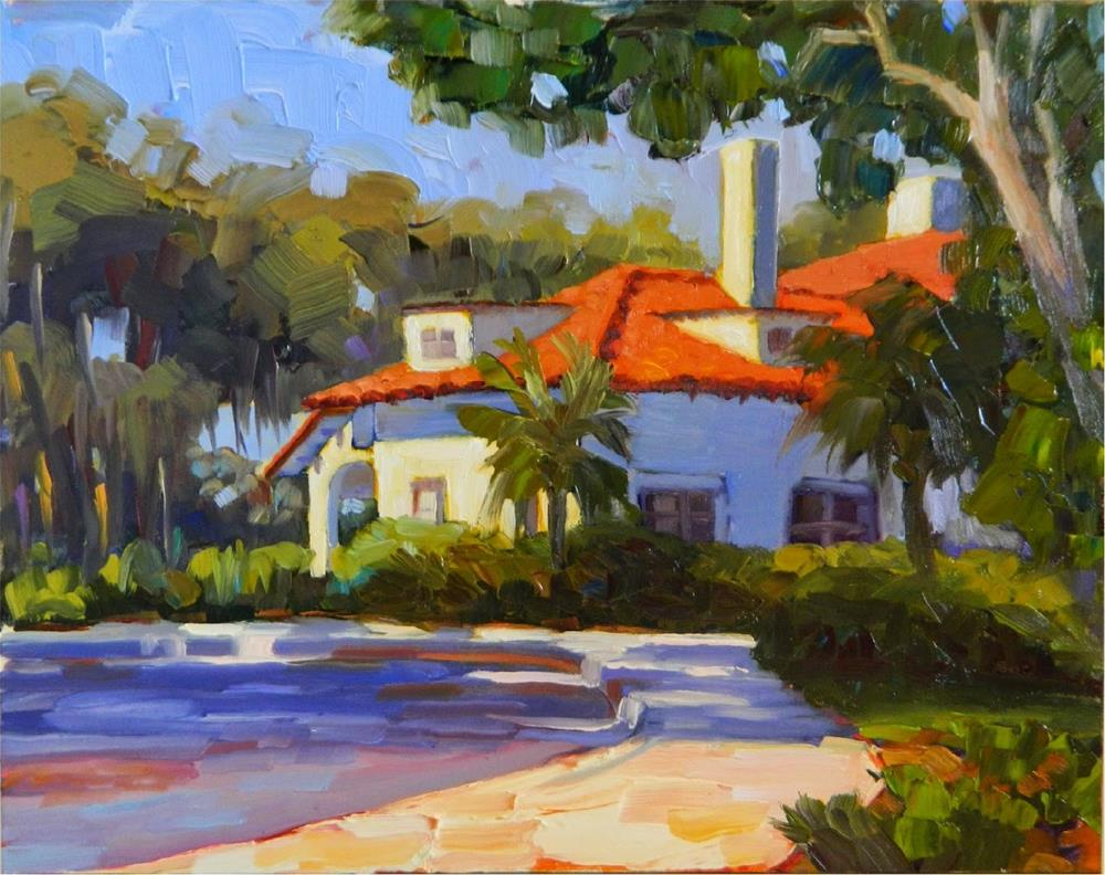 """Morning Light, Edson Keith Mansion, plein air, 14x11, Sarasota Florida paintings, Paint Sarasota,"" original fine art by Maryanne Jacobsen"