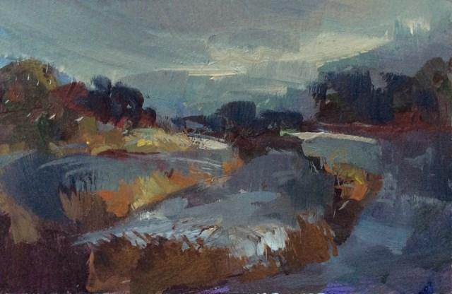 """River"" original fine art by Anne Wood"
