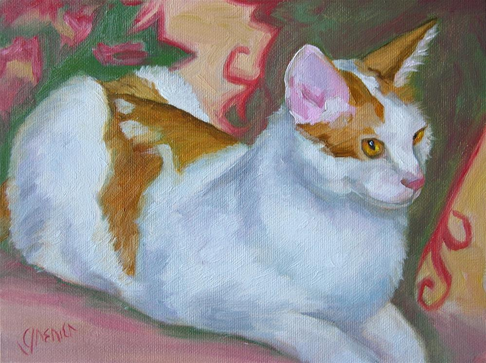 """Doug's Cat"" original fine art by jean grenier"