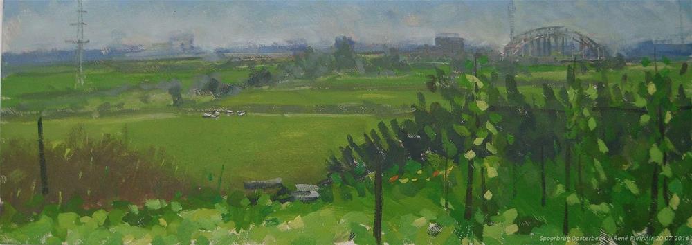 """""""Spoorbrug Oosterbeek. The Netherlands."""" original fine art by René PleinAir"""