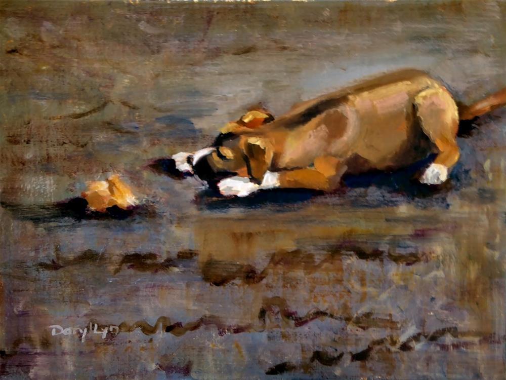 """""""P-396 Sammy's Bone"""" original fine art by Daryl Lyn King"""