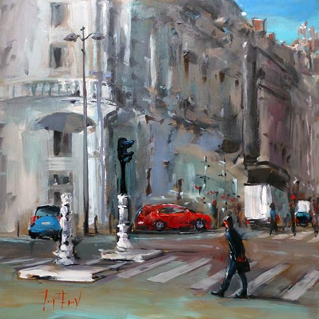 """Strasse"" original fine art by Jurij Frey"