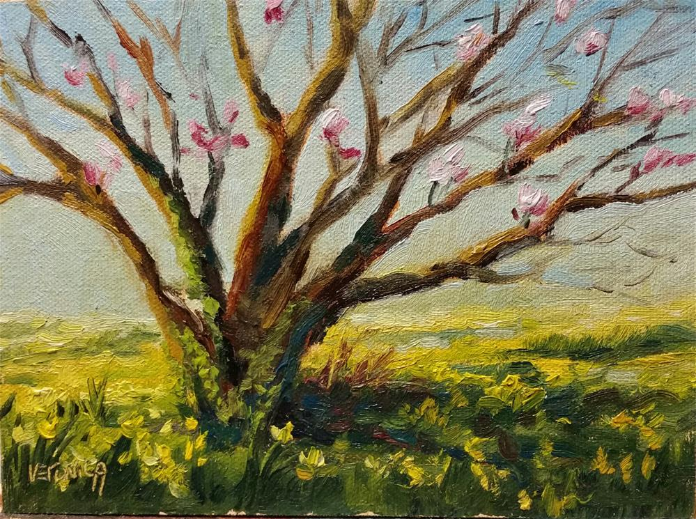 """Tulip Tree-plein air"" original fine art by Veronica Brown"