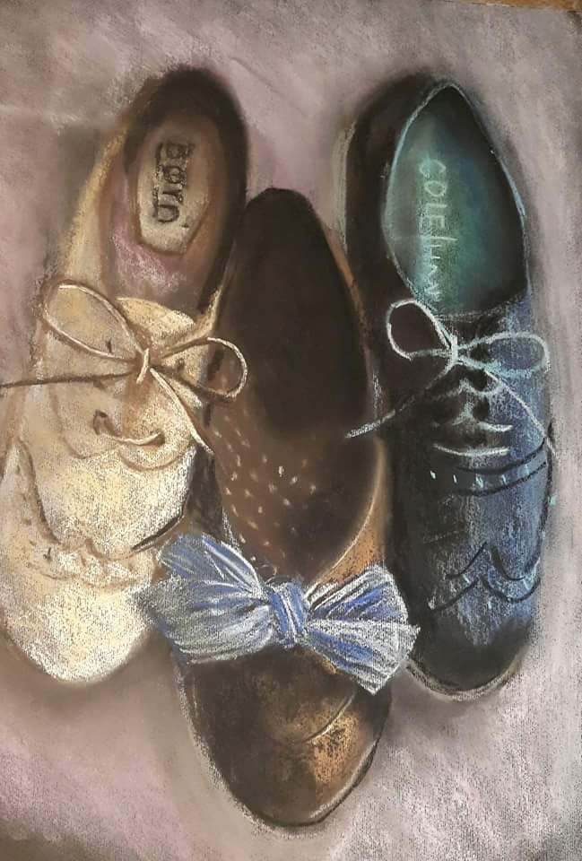 """Shooze 1"" original fine art by Rentia Coetzee"