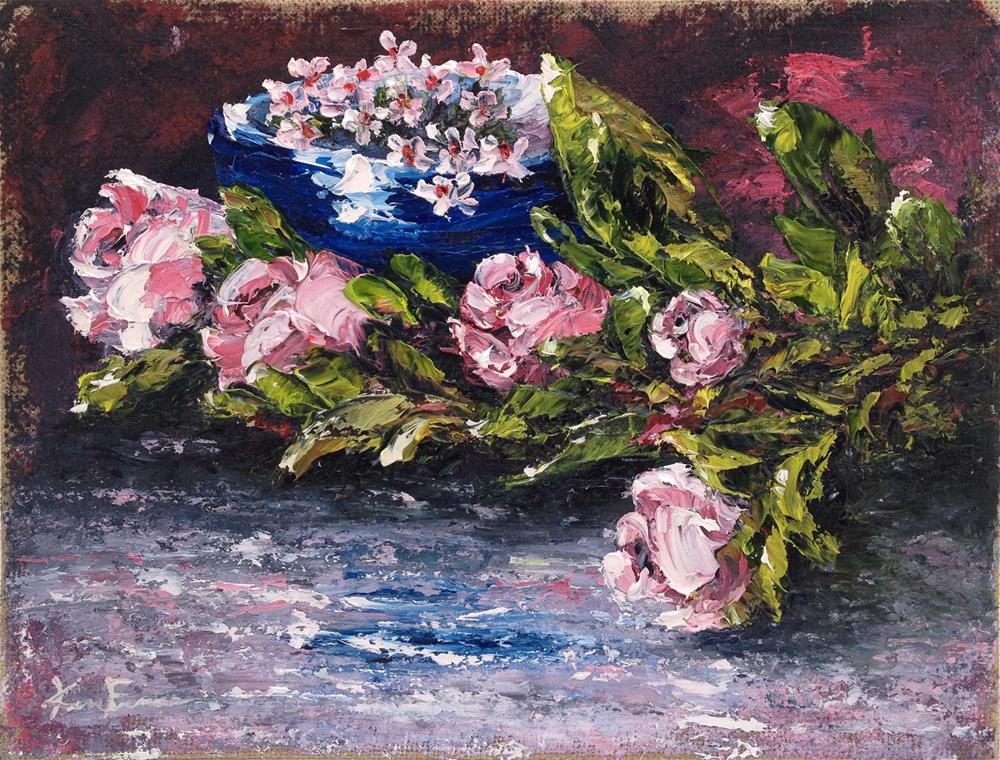 """""""Pretty in Pink"""" original fine art by Ken Fraser"""