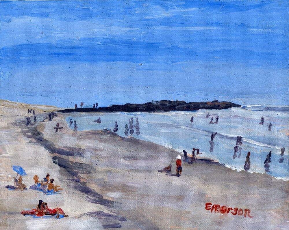 """Peninsula Beach Ventura CA"" original fine art by Stanley Epperson"